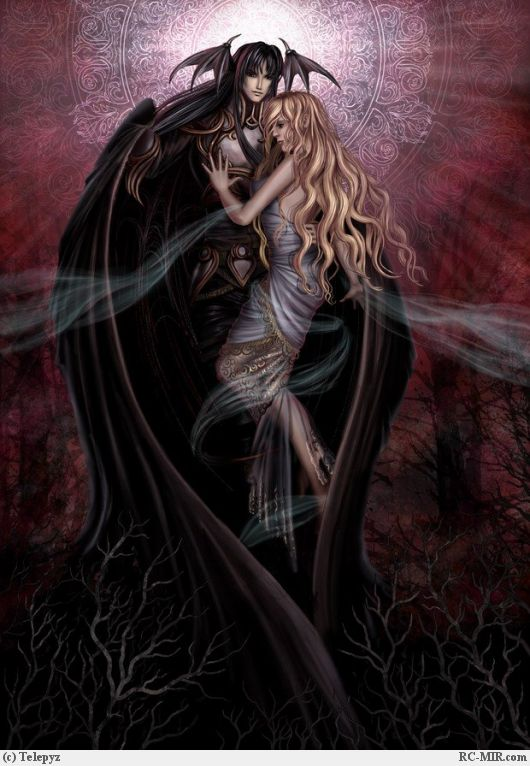 Парень ангел демон вампир любовь